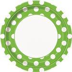 Tanierik zelené bodky