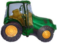 Fóliový balón traktor zelený