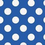 Servítky veľké modré bodky