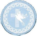 Fóliový balón krížík modrý