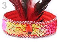 Karnevalová čelenka s perím retro