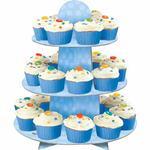 Stojan na košíčky a muffiny modrý