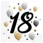 Servítky narodeniny 18
