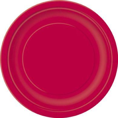 Tanierik veľký červený 16 ks