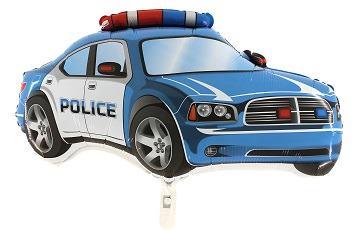 Fóliový balón policajné auto modré