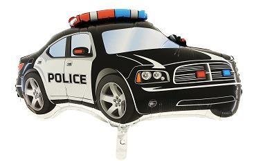 Fóliový balón policajné auto čierne