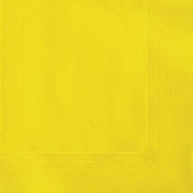 Servítky žlté