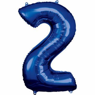 Fóliový balón modrý č.2