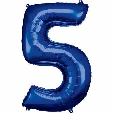 Fóliový balón č. 5 modrý