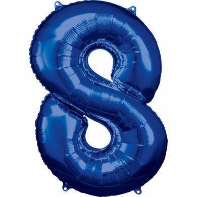 Fóliový balón č. 6 modrý
