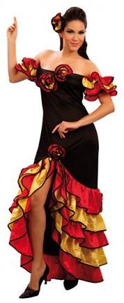 Kostým flamengo tanečnice S