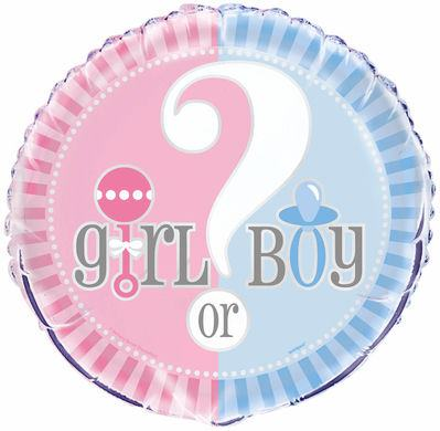 Fóliový balón Gender Reveal