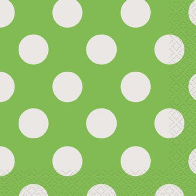 Servítky malé zelené bodky