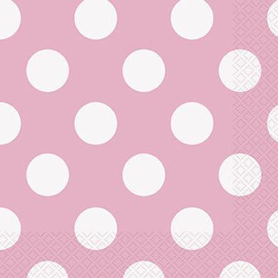 Servítky malé baby pink bodky