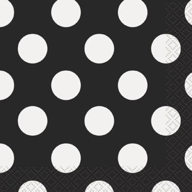 Servítky malé bodky čierne