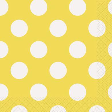 Servítky veľké žlté bodky