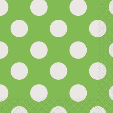 Servítky veľké zelené bodky