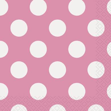 Servítky veľké ružové bodky