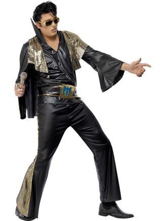 Kostým Elvis de luxe čierny L