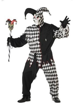 Kostým klaun domino L