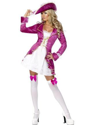 Kostým ružová pirátka M