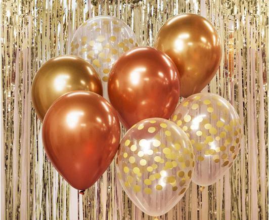 Sada balónov s konfetami 7 ks