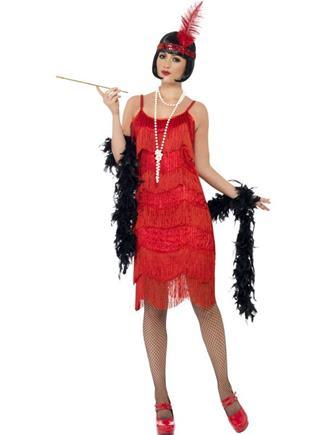 Kostým charleston červené šaty  S