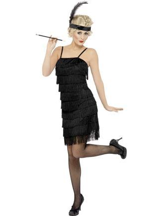 Kostým charleston čierne šaty S