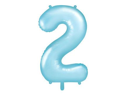 Fóliový balón č. 2 baby blue