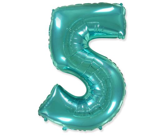 Fóliový balón č.5 mentolový