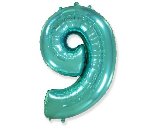 Fóliový balón č.9 mentolový