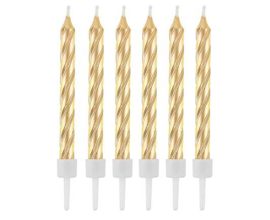 Sviečky zlaté 8 cm