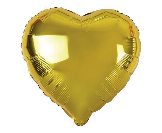 Balón srdiečkový zlatý
