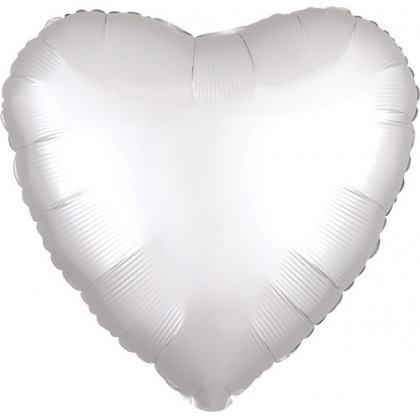 Fóliový balón srdce strieborný