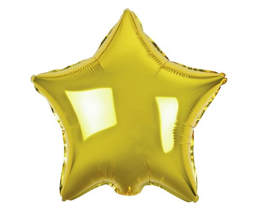 Fóliový balón zlatá hviezda