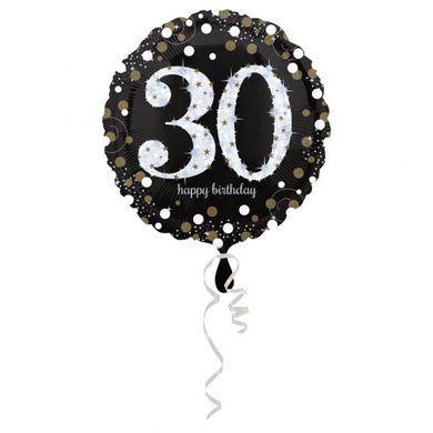 Fóliový balón 30 gold diamonds