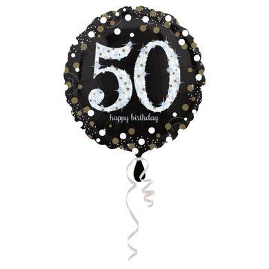 Fóliový balón 50 gold diamonds