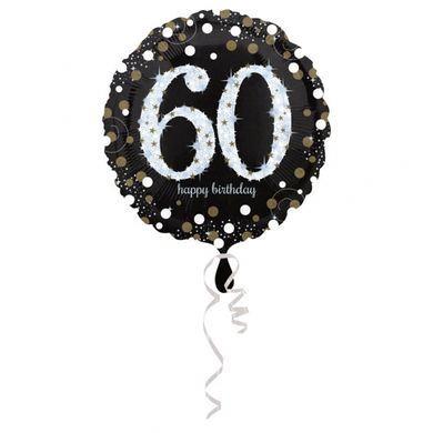 Fóliový balón 60 gold diamonds