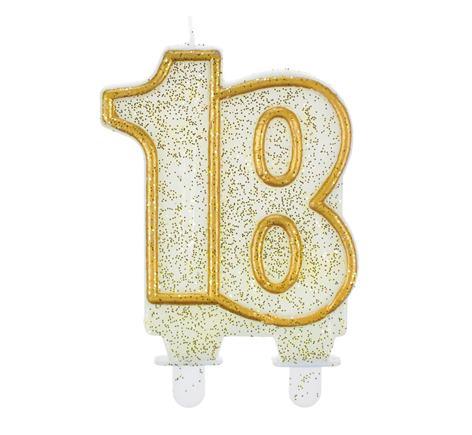 sviečka č.18 zlatá
