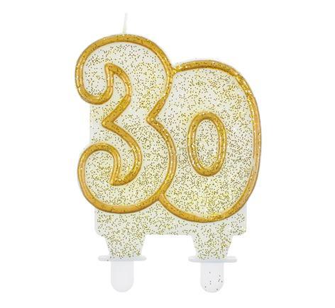 sviečka č.30 zlatá