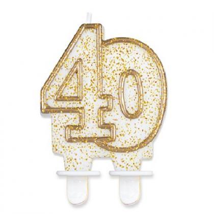 sviečka č.40 zlatá