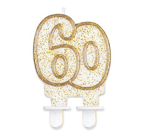 sviečka č.60 zlatá
