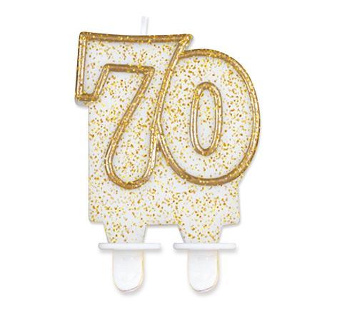 sviečka č.70 zlatá