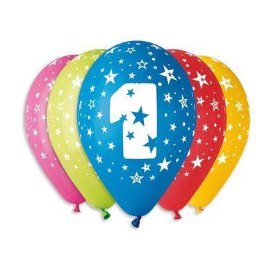 Balóny s číslom 1 Hviezdy