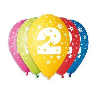 Balóny s číslom 2 Hviezdy