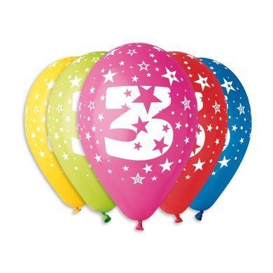 Balóny s číslom 3 Hviezdy