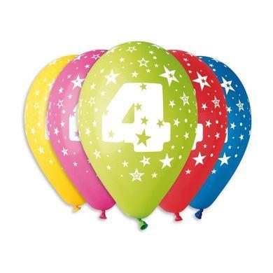 Balóny s číslom 4 Hviezdy