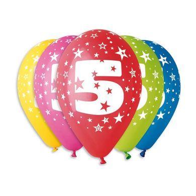 Balóny s číslom 5 Hviezdy