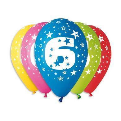 Balóny s číslom 6 Hviezdy