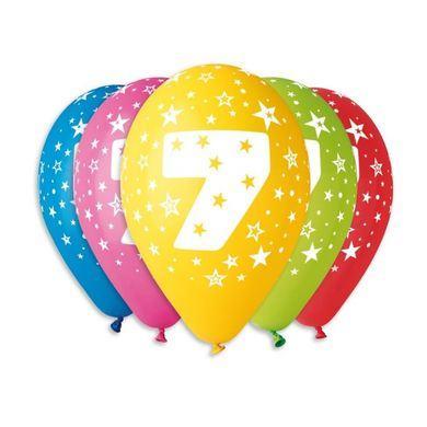 Balóny s číslom 7 Hviezdy